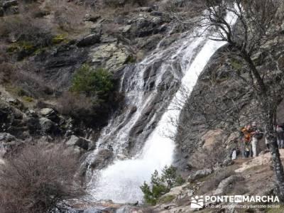 Chorrera de San Mamés, cascada de San Mamés; jerte en flor